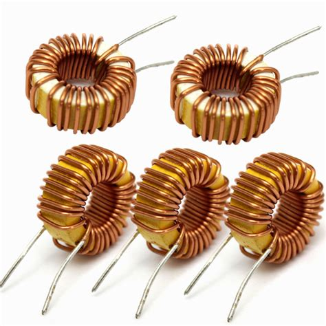 inductor 33uh 3a 5pcs 33uh 3a toroidal wound inductor inductance magnetic inductance alex nld