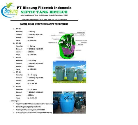 Septic Tank Biotech harga septictank biotech murah dan resmi
