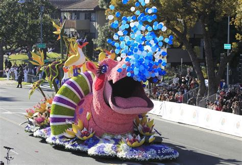 2016 rose bowl parade floats flower decked floats marching bands move through pasadena