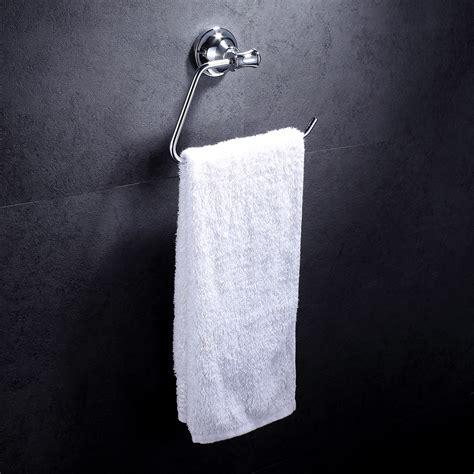 bathroom hand towel hooks bathroom wall mounted chrome towel open ring hand towel hook holder organizer us ebay