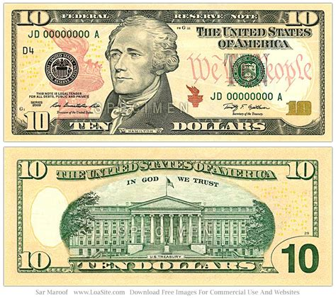 free printable fake money front and back best photos of dollar bill actual size templates 20