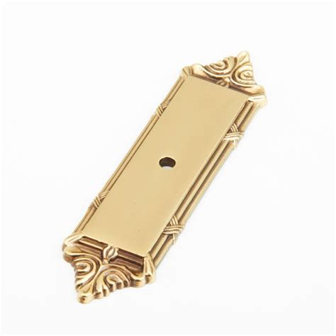 cabinet knobs with backplates schaub versailles rectangular backplate for cabinet knob