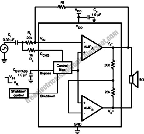 bootstrap snubber circuit wide voltage range 1 8 watt audio power lifier with circuit protection wiring schema