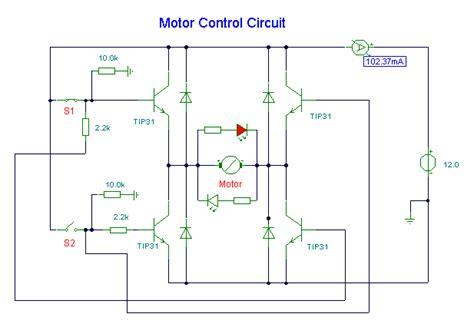 cara membuat skema rangkaian dasar kontrol motor dc h