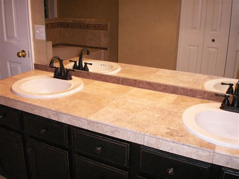 Bathroom Tile Countertop Ideas Tiled Bathroom Countertops Photo 6 Design Your Home