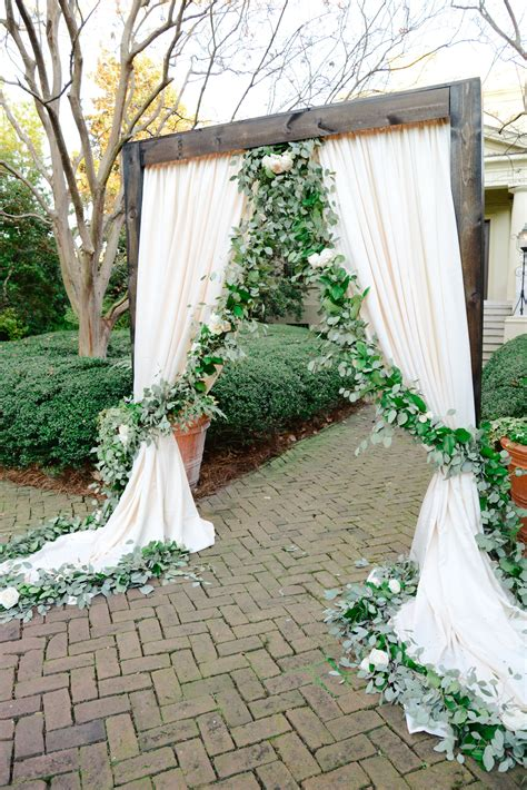 Wedding Ceremony Draping by Floral Garland Ivory Draping Wedding Ceremony Ideas