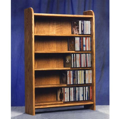 Solid Wood Cd Rack by Wood Shed Solid Oak Cabinet Cd Rack Tws 502