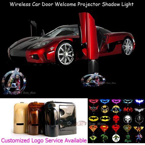 New Item Car Door Light Projector N Play Murah Baru 2x wireless sensor no drilling car door welcome 3d marvel the logo laser projector