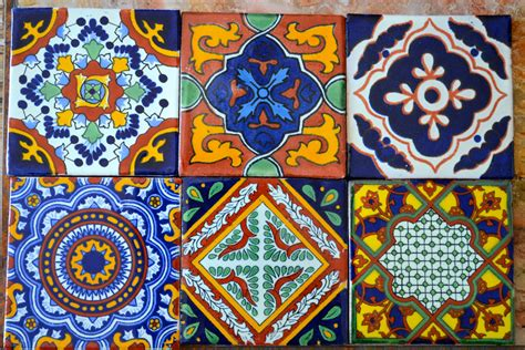Mexican Handmade Tiles - 12 mexican talavera tiles handmade painted 4 x