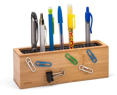 pen organizer for desk pen zen bamboo desk organizer thinkgeek