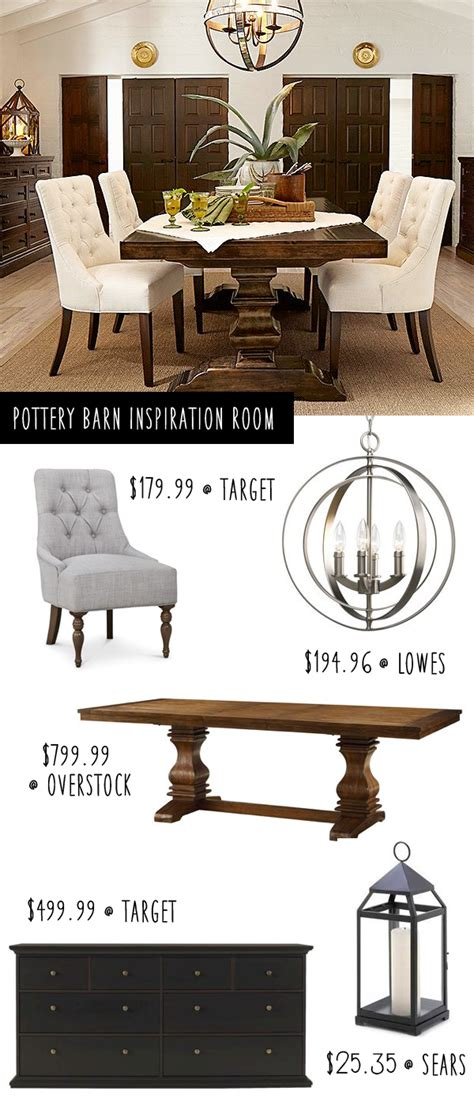 pottery barn inspiration pottery barn inspiration dining room on a budget table