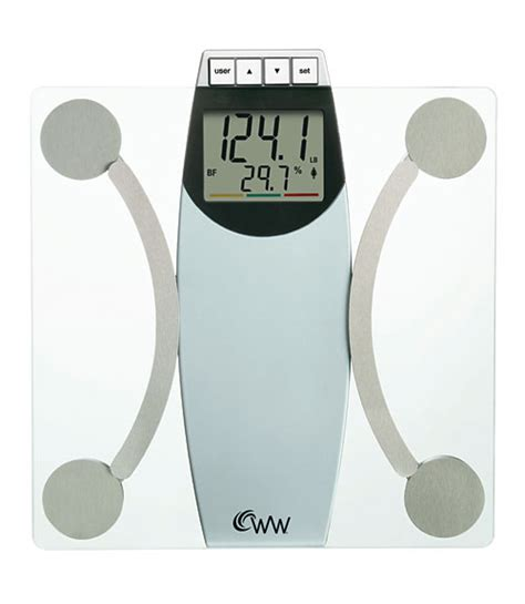 weight watchers by conair ww67t glass body analysis scale