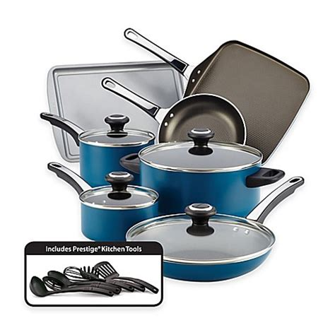 bed bath and beyond pots farberware 174 high performance nonstick aluminum 17 piece