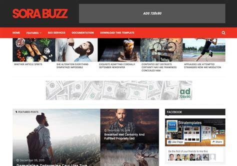 sora templates for blogger sora buzz blogger template free graphics free