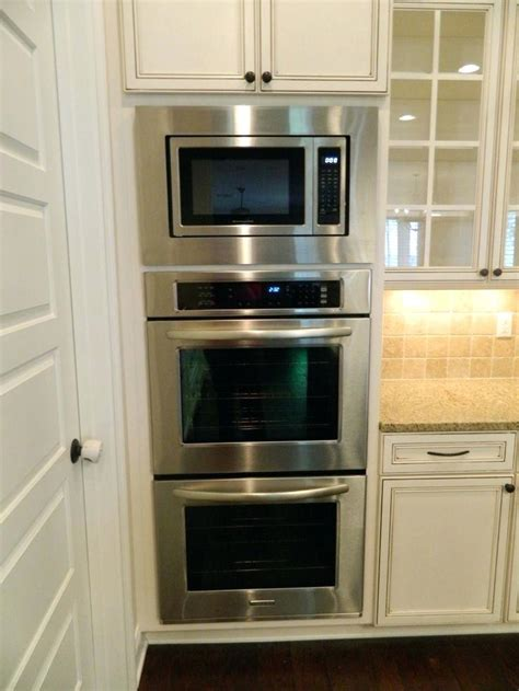 microwave oven built in cabinet kitchen love double oven and microwave best double oven