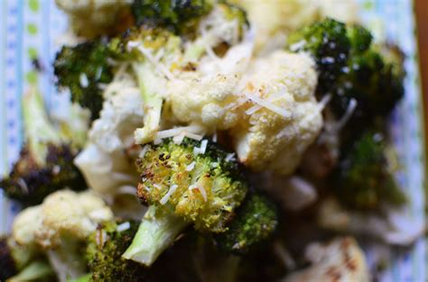 parmesan roasted parmesan roasted broccoli and cauliflower simple sweet