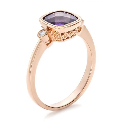 amethyst and gold ring 100453