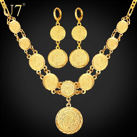 aliexpress necklace ethiopian jewelry 18k dubai gold plated jewelry set for