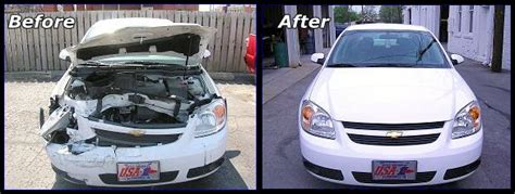 wrecked car before and after 4 reasons to repair exterior damage after an auto accident