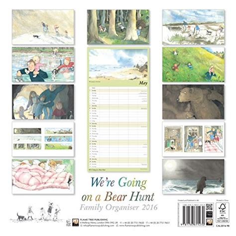 libro were going on a libro we re going on a bear hunt family organiser wall calendar 2016 art calendar di flame