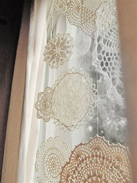 snowflake lace curtains 44 delicate shabby chic christmas d 233 cor ideas digsdigs