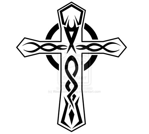 cross tribal tattoo designs tribal cross design by wearwolfclothing on deviantart