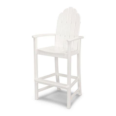 polywood classic white plastic adirondack chair add202wh