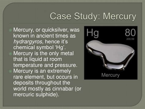 metal that is liquid at room temperature mercury and heavy metal pollution