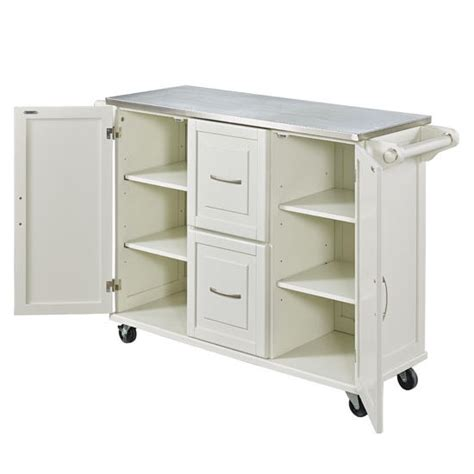 stainless steel kitchen island gloss and style of your patriot mobile stainless steel kitchen cart with two