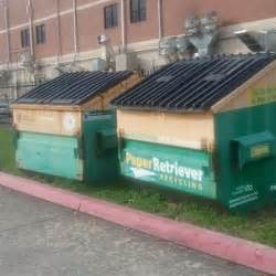 paper retriever recycling bin recycling center judy bush elementary school parking lot