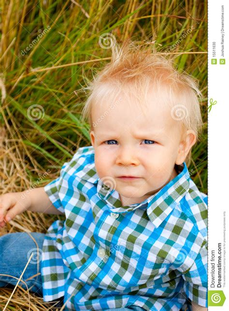 Hair Gel For A 1yr Old | 1 year old boy stock photo image 15511630