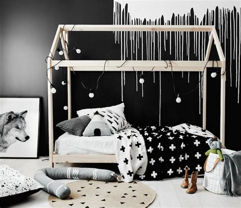 10 black and white kids rooms tiny little dark moody and magical kids rooms petit small