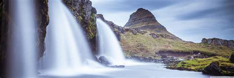 kirkjufellsfoss waterfall kirkjufell iceland  hd