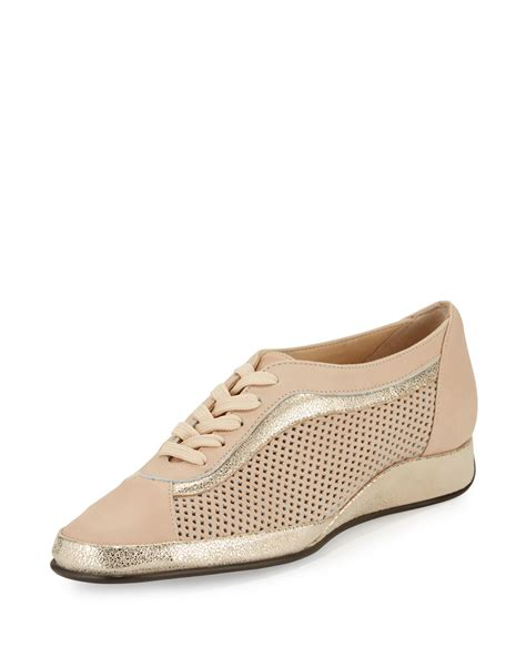 amalfi shoes lyst amalfi by rangoni ethel perforated leather sneaker