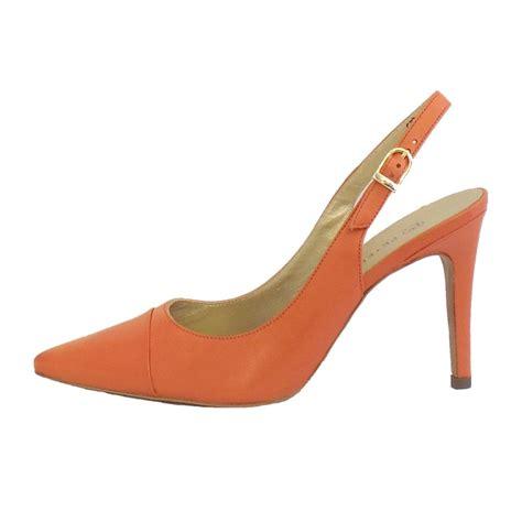 slingback shoes kaiser desmona coral leather slingback