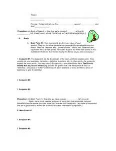 informative speech outline worksheet