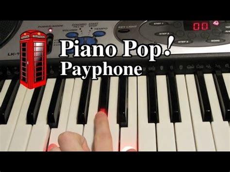 tutorial piano payphone payphone piano lesson maroon 5 ft wiz khalifa easy
