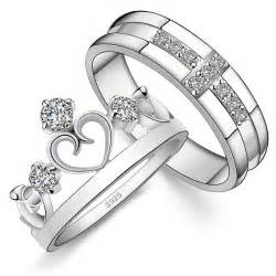 wedding rings matching his and hers his hers matching sterling silver engagement