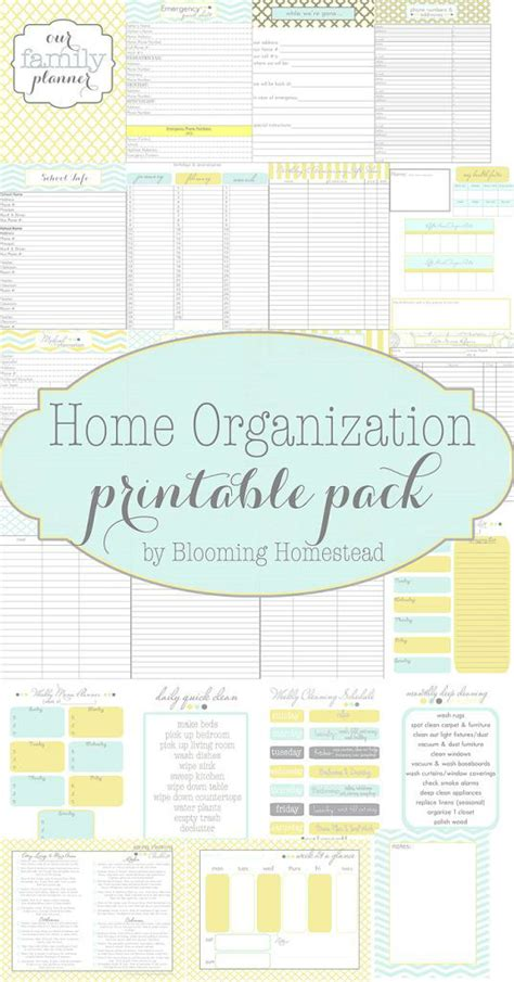 home organization blog planners for just about anything home organization
