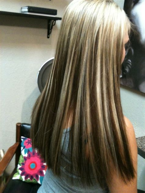 platinum hairstyles with some brown platinum highlights with dark hair