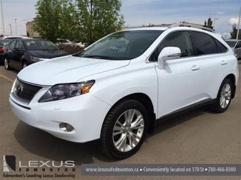lexus white 2010 pre owned white 2010 lexus rx 450h awd hybrid touring