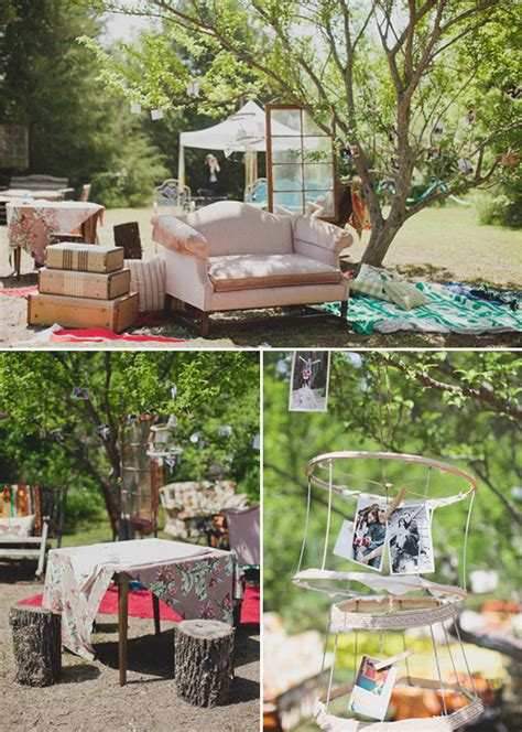 colorful diy backyard wedding ideas