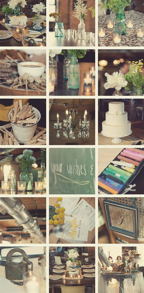 Vintage Style Wedding Decoration Ideas by Shaun S Salvage One Chicago Wedding Photography