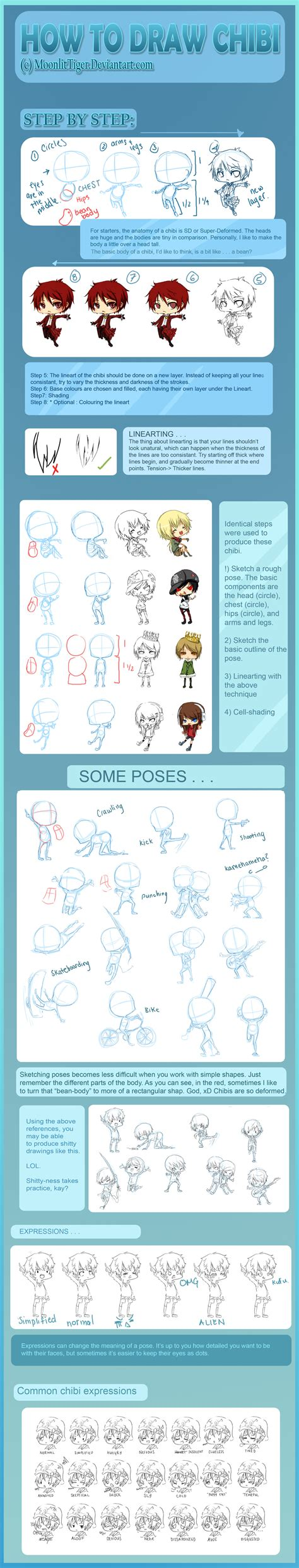 tutorial html blogger animax action how to draw chibi