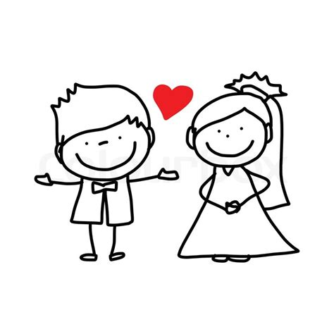 wedding invitations caricature drawings drawing character happy wedding