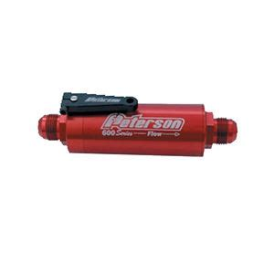 fuel filter   fitting  micron  shut  hepfner racing products