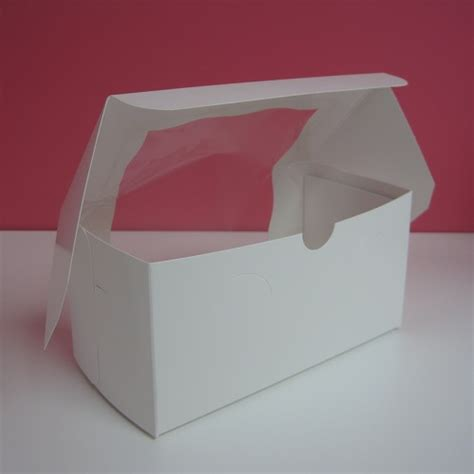 white cupcake boxes with window 8x4x4 white cupcake box with window