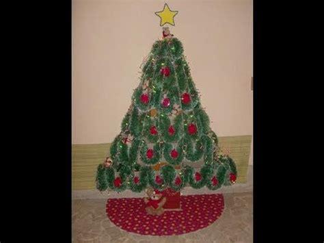 como hacer arbol de navidad con cajas de carton reciclando