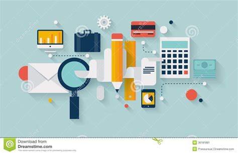 planning pic financial planning and development illustration stock