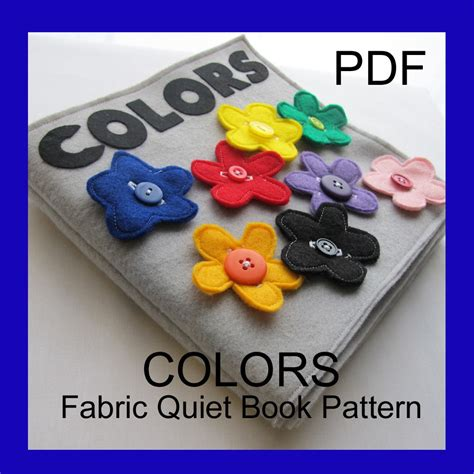 etsy quiet book pattern colors fabric quiet book pdf pattern by turnbowdesigns on etsy